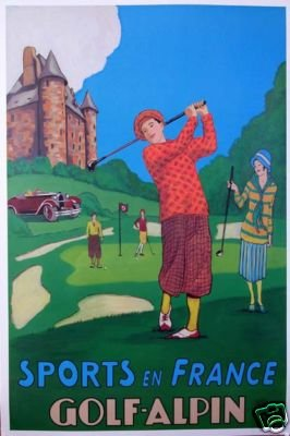 Golf Alpin Sports en France poster 2002 26x39 inches