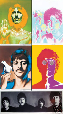 BEATLES POSTER complete SET of 5 AVEDON 1967