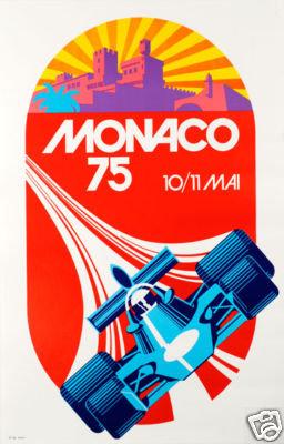 Monaco Grand Prix 1975 poster reprint