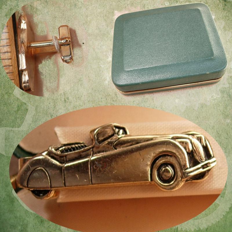 Karman Ghia Convertible 3D cufflinks classic car pewter effect cufflinks ref110
