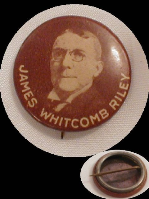 1900's James Whitcomb Riley button