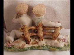 Vintage BISQUE Babies Children occupied Japan figurine