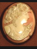 Gorgeous FACE Victorian Cameo 1920's BROOCH