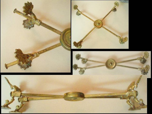 UNUSUAL Victorian shell FOOTED stand holder MECHANICAL