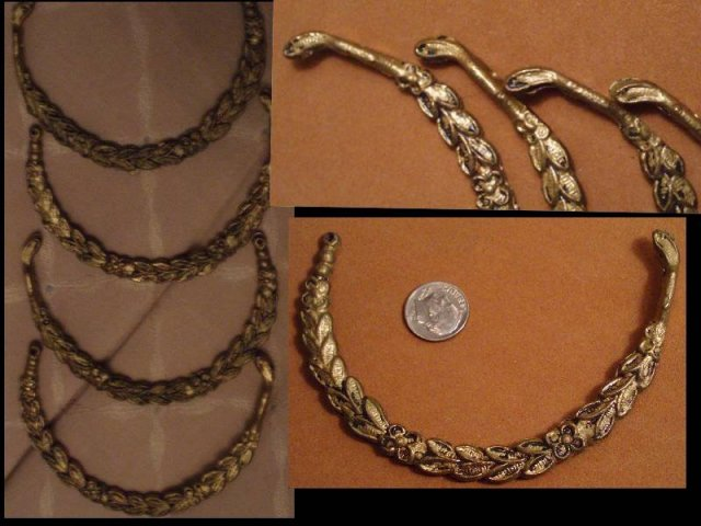 Antique Ormolu SNAKE serpent Chandelier arms