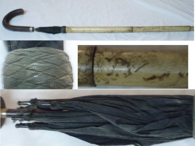 Vintage HIDDEN umbrella STRANGE CANE