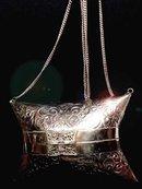 EXQUISITE SILVER VICTORIAN HARD purse