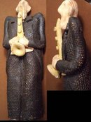 BIZARRE POP art saxaphone faceless statue