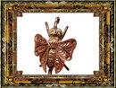14KT GOLD Aesthetic FLY MOTH rose stickpin