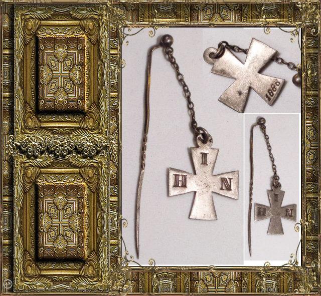 1886 ANTIQUE Queens Cross  FOB stickpin