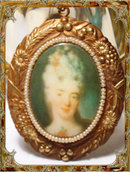 Vintage Victorian portrait seed pearl NEcklace