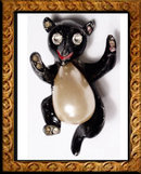Vintage Roosevelt TRIFARI Jelly Belly BRooch