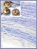 Vintage 26 Strand BLUE GLASS Parure Pretty!