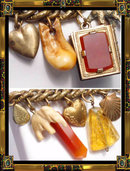 Victorian Heart Locket Charm bracelet Teeth