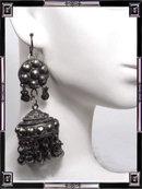 Antique  Etruscan REVIVAL chandelier earrings