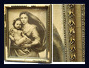 Antique framed Madonna of the poor Mary & baby