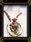 vintage Memento figurehead enamel necklace