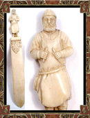 18th CENTURY IVORY Figural MONK Page turner