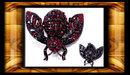 Vintage Enamel Garnet MOTH Fly Insect Brooch