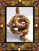 Vintage angelskin coral exotic SNAKE ring