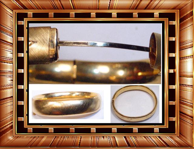 Antique Victorian hinged Fancy OLD bracelet