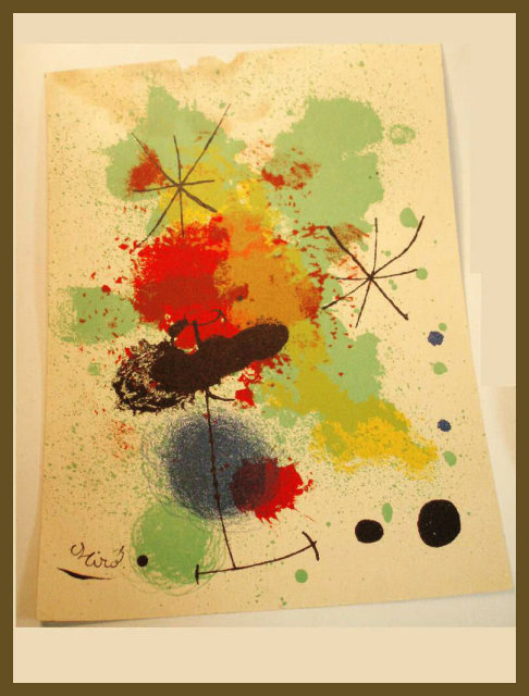 Signed Abstract surrealism MIRO lithograph