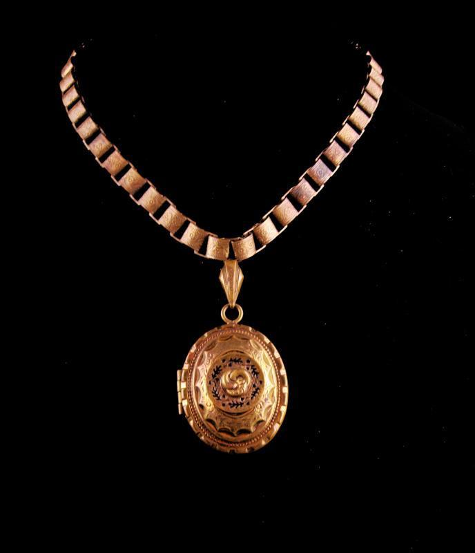 Antique Victorian Locket - Bookchain necklace - 1880s Secret keeper - enamel black taille d' epergne - large locket - photo holder