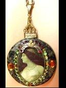 Gorgeous Renaissance  Portrait jewel necklace
