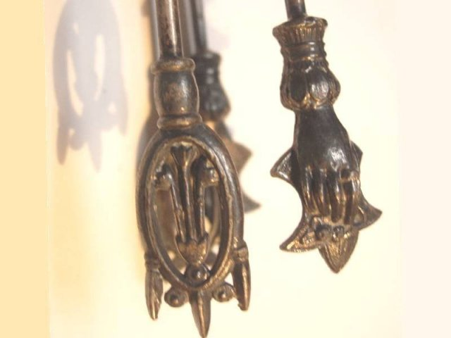 ANtique HAND Gothic or medieval pickle tongs GREAT For JEWeLRY