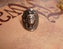 Antique Sterling Mucha Goddess Face Love token Ring