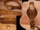 Antique Opal Victorian SLide Bracelet Mesh with tassels