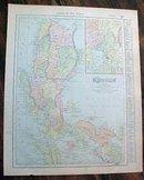 Antique Map Luzon Island Manila 1907 Solar System