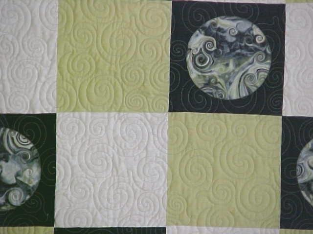Quilt Abstract Art Titan Moon 55 x 69