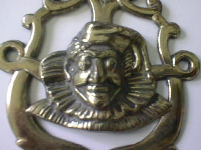 Brass Horse Rosette Unusual Clown Design