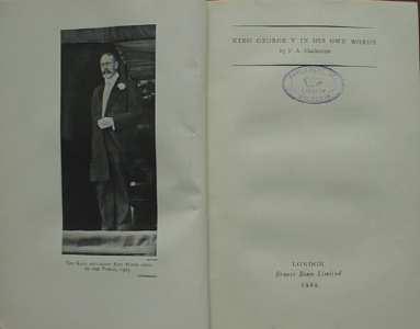 King George V In His Own Words Mackenzie 1929