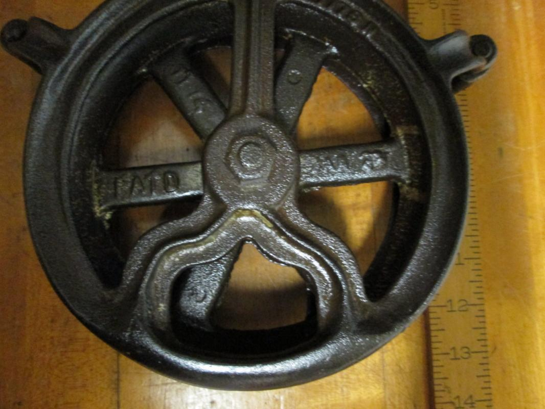 Antique Single Rope Pulley All Metal Pat. 1916 &1923