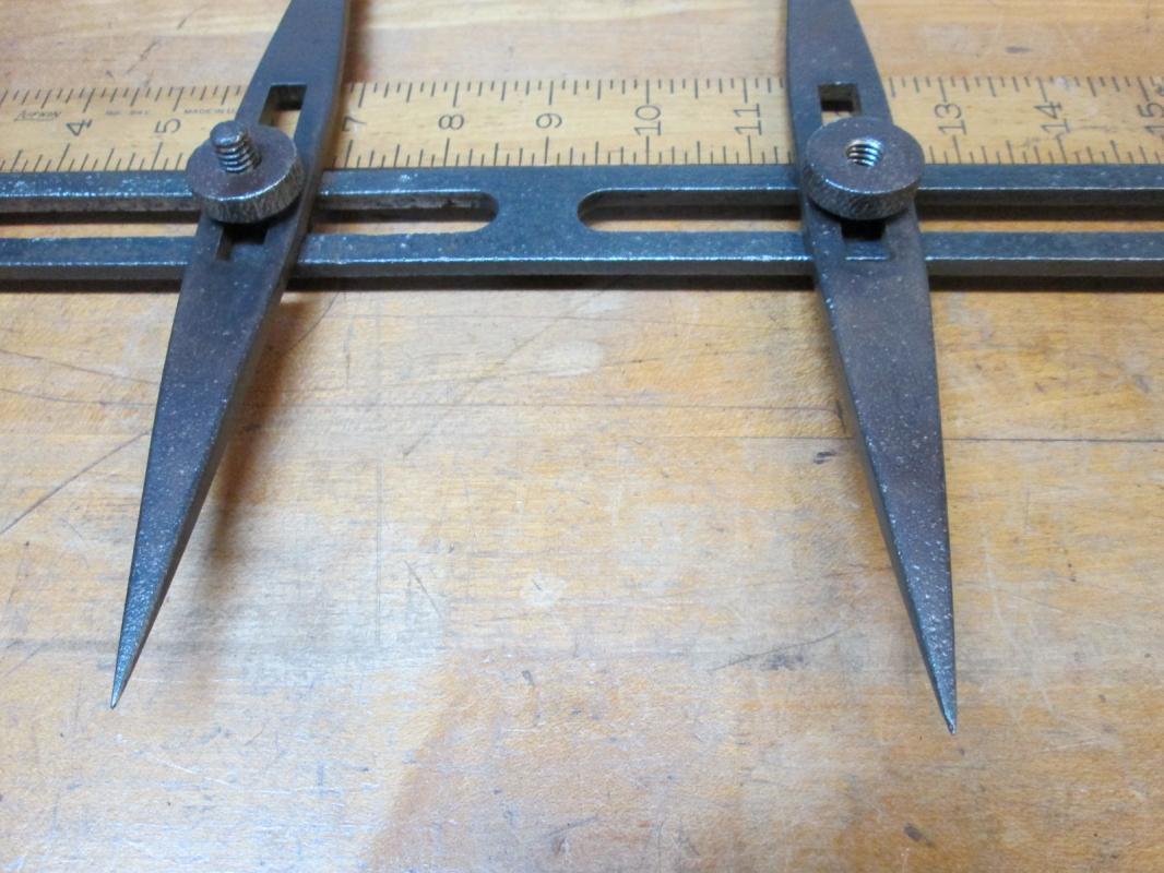 Beam Trammels/Caliper Iron CA 1880's