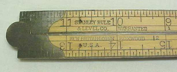 Stanley No. 60 Double Arch Joint Folding Rule Brass Bound