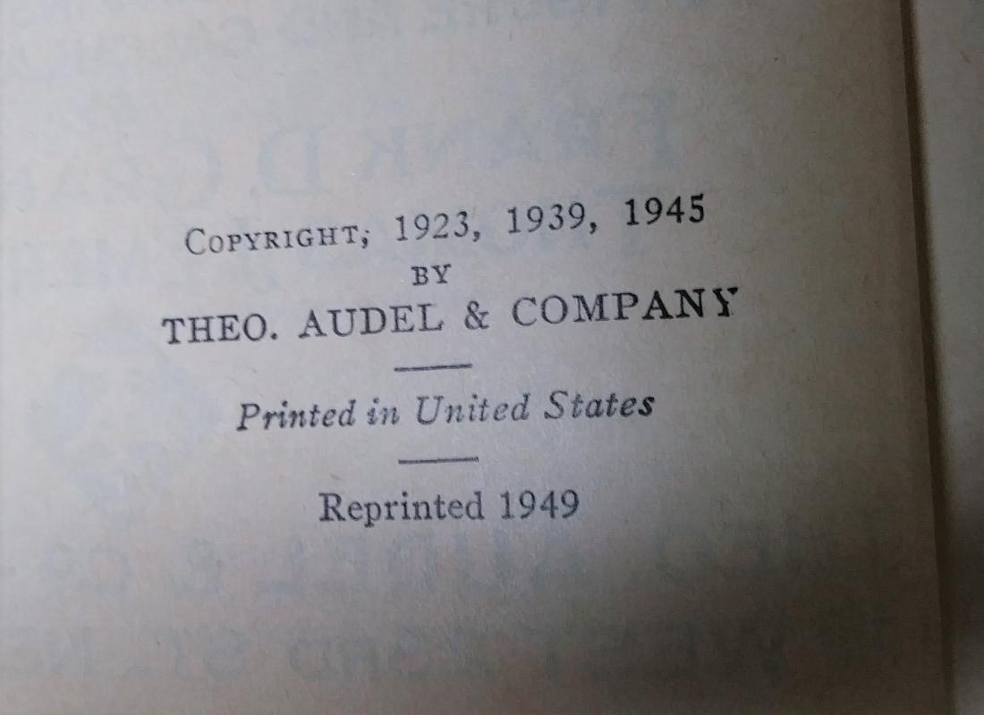 Audels Carpenters & Builders Guide 4 Vol 1949