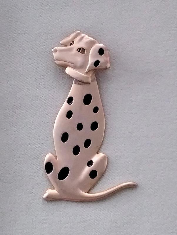 Dog Brooches 3 pc Dalmation Lab Yorkie