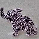 Vintage Elephant Brooches 3 PC Rhinestones Marcasite