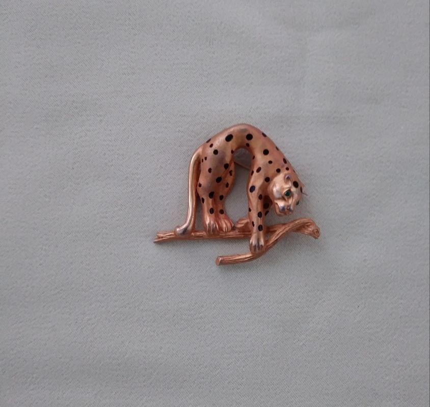 Vintage Leopard Brooch Pins 3 pc