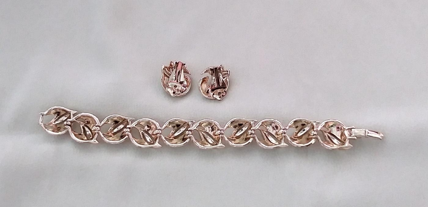 Vintage Bracelet and Clip Earrings Classic