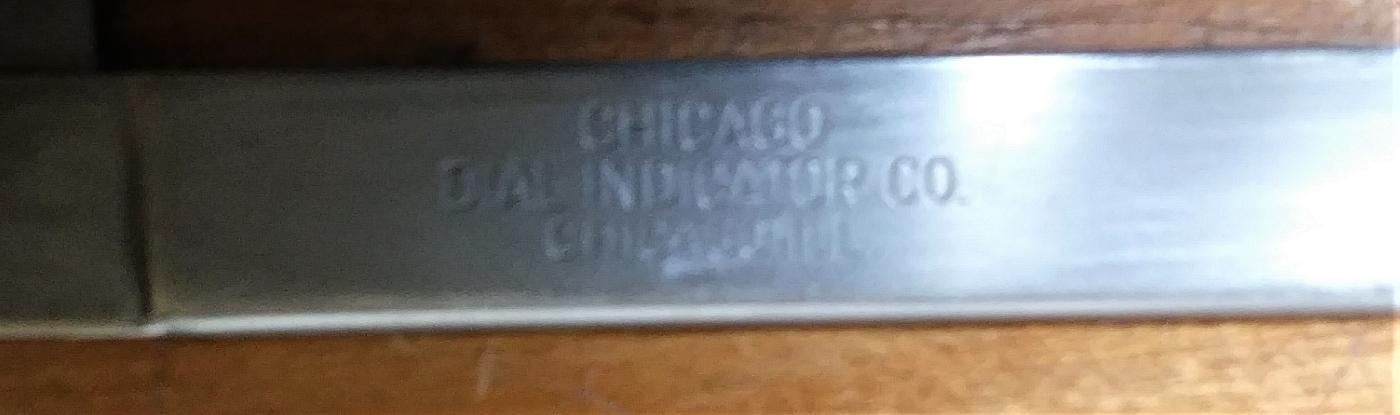 Chicago Indicator Co. Vernier Speed Gauge
