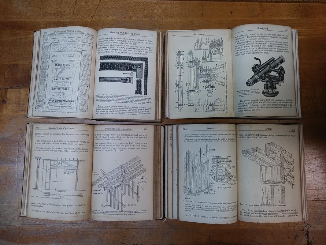 Audels Carpenters & Builders Guide Set 1923 First Ed.