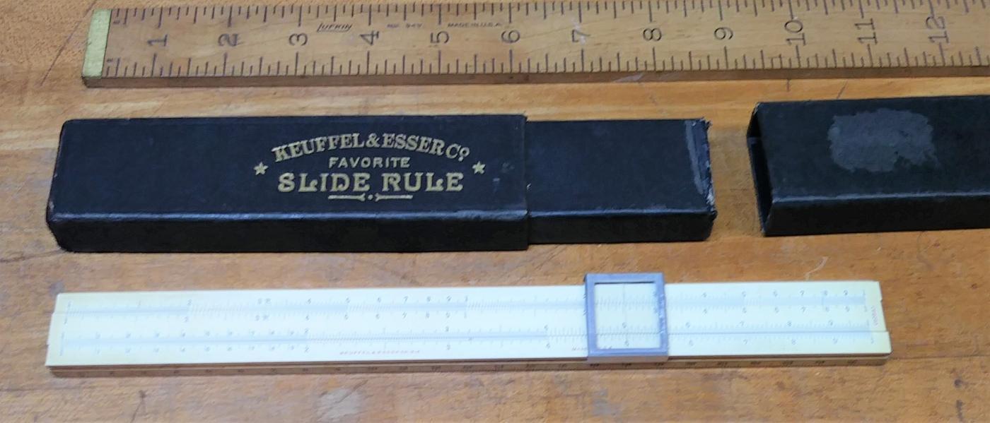 Keuffel & Esser Slide Rule Favorite 4054 w/ Case