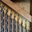 Wards Brace Bit Stock Twist Drill Set Wood Box