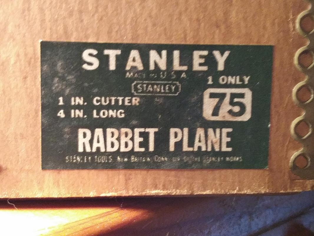 Stanley No. 75 Bull Nose Plane