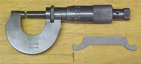 German Watch-Craft Micrometer 0-15 mm & wood box