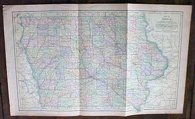 Antique Map Iowa 1901 Large Foldout on map of of ohio, large maps of ohio with rivers, travel map of ohio, business map of ohio, general map of ohio, printable road map of ohio, transportation map of ohio, military map of ohio, reference map of ohio,